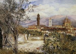 Florence, the Duomo from the Mozzi Garden by Henry Roderick Newman