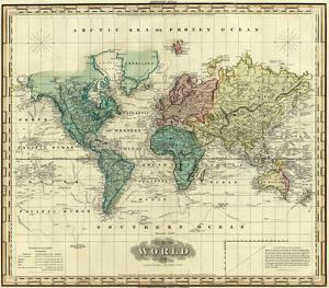 World on Mercators Projection, c.1823 by Henry S^ Tanner