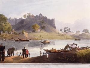 Ruins of the Port at Juanpore on the River Goomtee, 1824 (Colour Aquatint) by Henry Salt