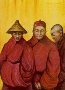 Tibetan Red Lamas by Henry Savage Landor