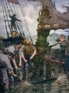 All Hands to the Pumps, 1888-1889 by Henry Scott Tuke