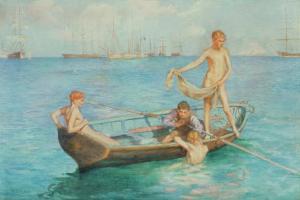 August Blue by Henry Scott Tuke