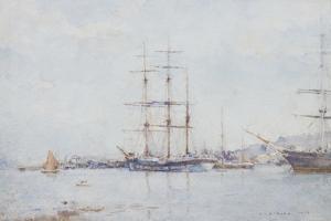 Falmouth Bay, 1925 by Henry Scott Tuke