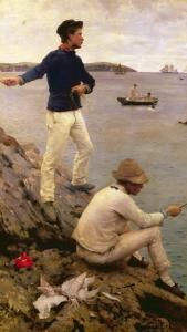 Fisher Boys, Falmouth, 1885 by Henry Scott Tuke