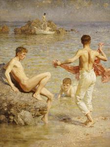 Gleaming Waters, 1910 by Henry Scott Tuke