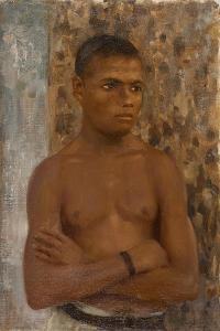Half Length of Ralph, 1923 by Henry Scott Tuke