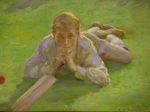 Henry Allen in Cricketing Whites by Henry Scott Tuke