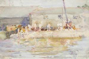 Quay Scamps, 1896 by Henry Scott Tuke