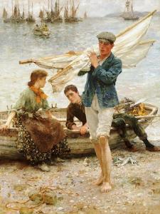 Return from Fishing, 1907 by Henry Scott Tuke
