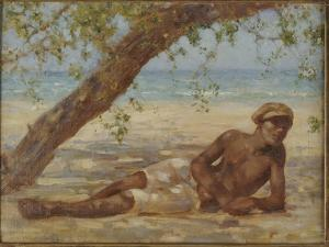 Samuel under a Tree, Jamaica by Henry Scott Tuke