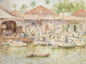 The Market, Belize, British Honduras, 1924 by Henry Scott Tuke