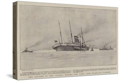 The Salving of the Paris, Towing the Liner into Falmouth Harbour