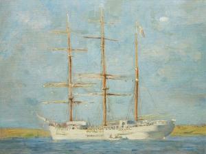 White Barque by Henry Scott Tuke