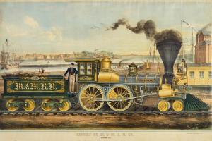 Steam Locomotive of the Milwaukee and Mississippi Railroad Compa by Henry Seifert