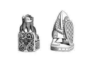 Chessmen, 12th Century by Henry Shaw