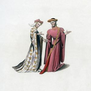 Court Dress, 14th Century by Henry Shaw
