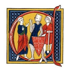 Initial Letter C, Early 14th Century by Henry Shaw