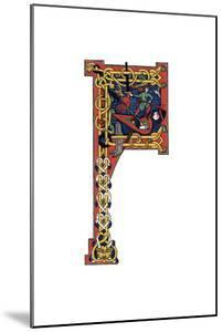 Initial Letter F, 12th Century by Henry Shaw