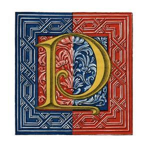 Initial Letter P by Henry Shaw