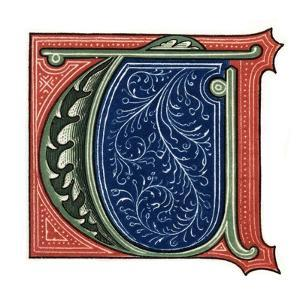 Initial Letter T by Henry Shaw