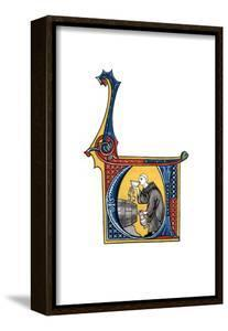 Initial Letter U, Early 14th Century by Henry Shaw