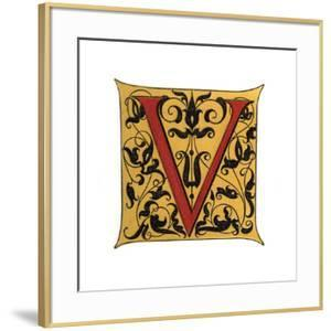 Initial Letter V by Henry Shaw