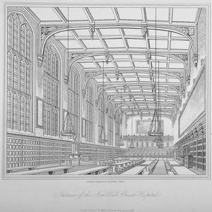 Interior View of the Hall, Christ's Hospital, City of London, 1833 by Henry Shaw