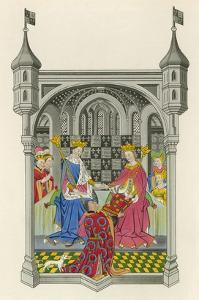 John Talbot, Earl of Shrewsbury, Presenting His Book to Queen Margaret by Henry Shaw
