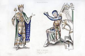 King and Knight, Late 12th Century by Henry Shaw