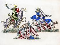 King and Knight, Late 12th Century-Henry Shaw-Giclee Print