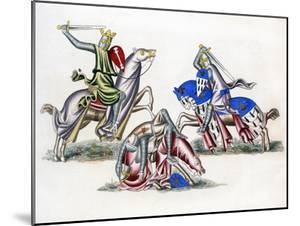 Knights Fighting, C1260 by Henry Shaw