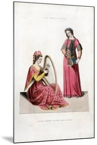 Ladies Playing on the Harp and Organ, Early 14th Century by Henry Shaw