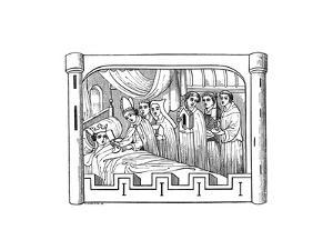 Louis, the Eldest Son of Philip Auguste, King of France, Lies Ill in Bed, 1191 by Henry Shaw