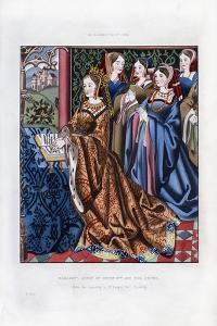 Margaret, Queen of Henry VI, and Her Court, Mid-15th Century by Henry Shaw