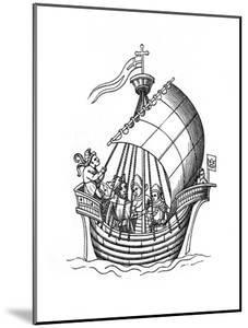 Sailing Ship, 1445 by Henry Shaw
