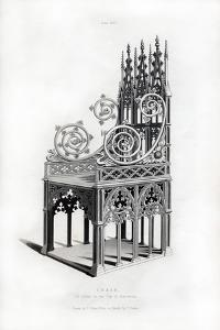 Solid Silver Throne, 1397 by Henry Shaw