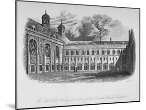 The Old Hall, Whittington's Library and the Cloisters, Christ's Hospital, City of London, 1825 by Henry Shaw