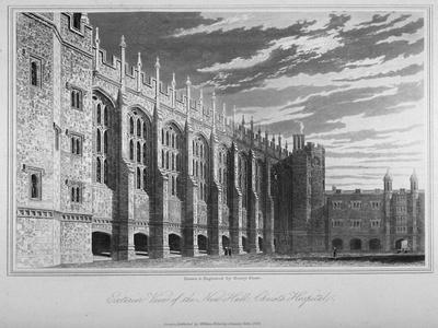 View of the Hall, Christ's Hospital, City of London, 1833