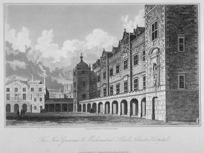 View of the New Grammar and Mathematical Schools, Christ's Hospital, City of London, 1833