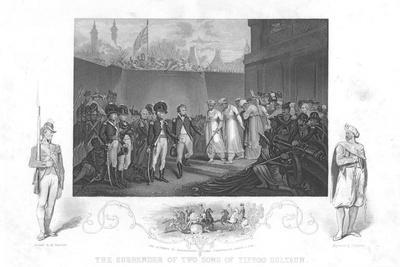 The Surrender of Two Sons of Tipoo Sultan', C1860