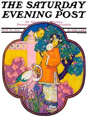 """""""Chinese Garden,"""" Saturday Evening Post Cover, May 16, 1931"""