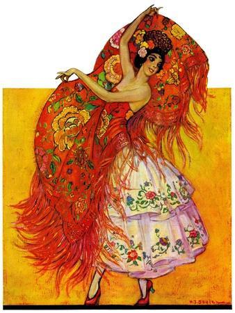 """Female Flamenco Dancer,""May 21, 1932"