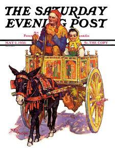 """""""Gypsy Wagon,"""" Saturday Evening Post Cover, May 2, 1936 by Henry Soulen"""
