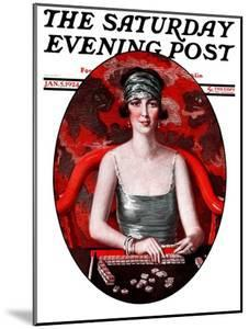 """""""Majong,"""" Saturday Evening Post Cover, January 5, 1924 by Henry Soulen"""