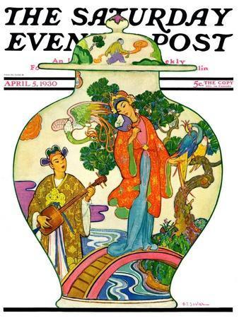 """Oriental Vase,"" Saturday Evening Post Cover, April 5, 1930"