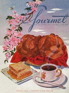 Gourmet Cover - April 1944 by Henry Stahlhut