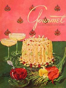 Gourmet Cover - April 1951 by Henry Stahlhut
