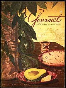 Gourmet Cover - April 1952 by Henry Stahlhut