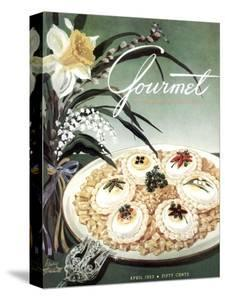 Gourmet Cover - April 1953 by Henry Stahlhut