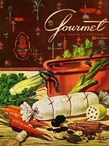 Gourmet Cover - April 1954 by Henry Stahlhut